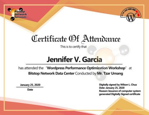 Jennifer V Garcia