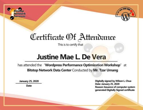 Justine Mae De Vera